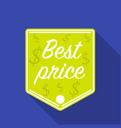 Best price icon in flat style isolated on white vector