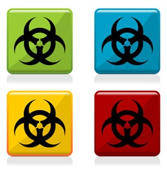 Biohazard sign buttons vector image vector image