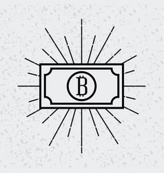 Bitcoin virtual money design vector