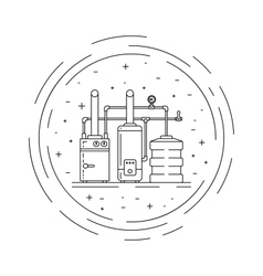 Boiler room equipment vector