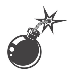 bomb icon isolated on white background design vector image