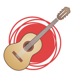 Classic spanish guitar vector