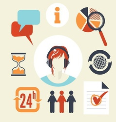 customer service1 resize vector image vector image