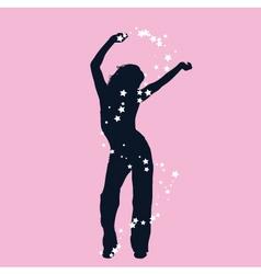 Dancing female vector