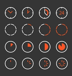 Different circle clock clip-art Design elements vector image vector image