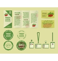 Eco Food Identity Elements vector image vector image
