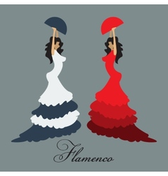 flamenco woman vector image