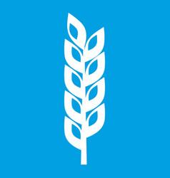 Grain spike icon white vector