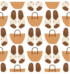 hand bag female fashion seamless pattern vector image