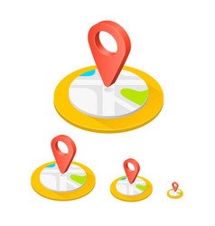 isometric icon location vector image vector image