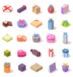 Large set of different gift boxes vector