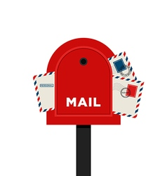 Mailbox letter flat design icon vector