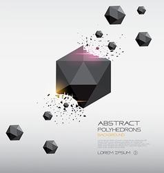 Polyhedron design vector