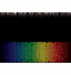 rainbow spectrum background vector image vector image