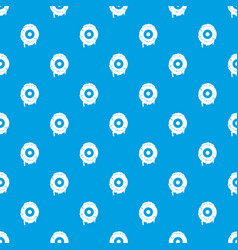scary eyeball pattern seamless blue vector image vector image
