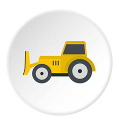 Skid steer loader icon circle vector