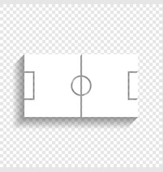 Soccer field white icon with soft shadow vector