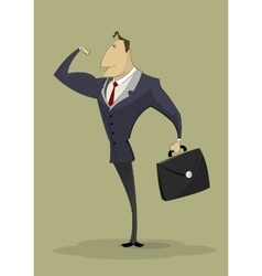 strong arm businessman vector image vector image