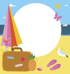 Summer vacations frame design vector
