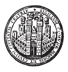 The seal for the city of chester england vintage vector