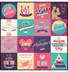 valentine set1 vector image vector image