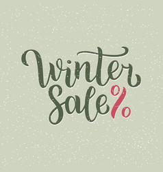 winter sale hand written inscription with isolated vector image vector image