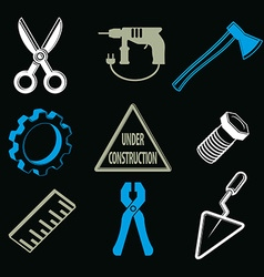 Work tools collection repair instruments for vector