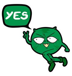 yes win vector image vector image