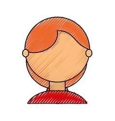Young woman faceless cartoon vector