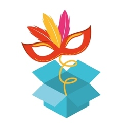 Surprise box fools day icon vector