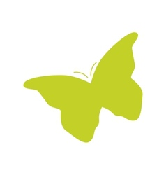 Silhouette of butterfly vector