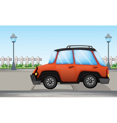 An orange car vector