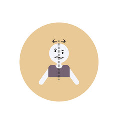 Stylish icon in color circle attack stroke face vector
