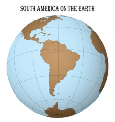south America globe vector image