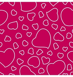 Bright pink valentines day seamless pattern vector