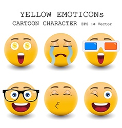 Yellow emoticon vector