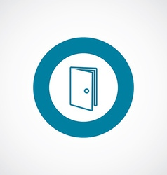 Door icon bold blue circle border vector