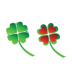 Four leaves clover vector