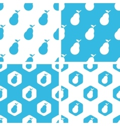 Pear patterns set vector
