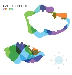 Abstract color map of Czech Republic vector image
