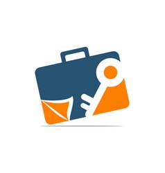 Briefcase key document vector