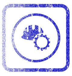 development hardhat framed textured icon vector image