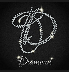 diamonds on black denim vector image