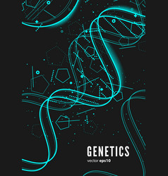 Dna genetic conceptual background vector