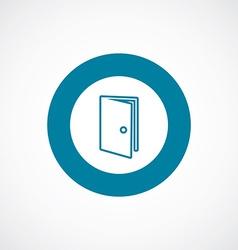 Door icon bold blue circle border vector