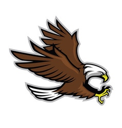 Eagle mascot style vector image vector image
