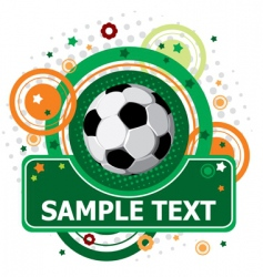 Festive soccer background vector