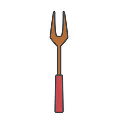Fork bbq cutlery icon vector