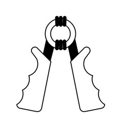 Hand grip sport or fitness related icon image vector