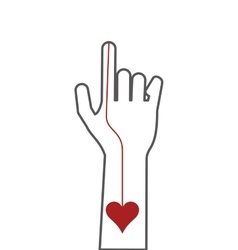 hand index finger icon vector image